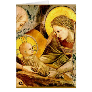 Madonna and Child - Giotto -1266 Greeting Cards