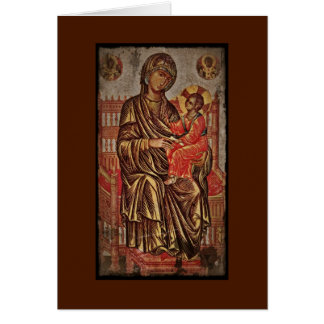 Madonna and Child Icon Card