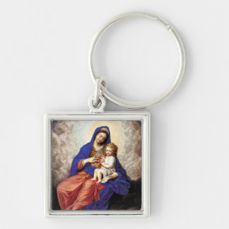 Madonna and Child in Glory Key Chain