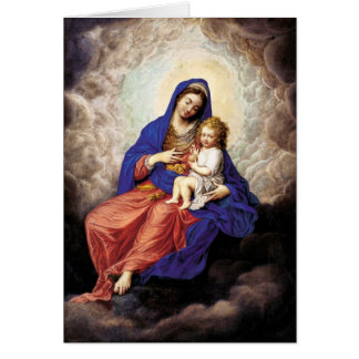 Madonna and Child in Glory Stationery Note Card