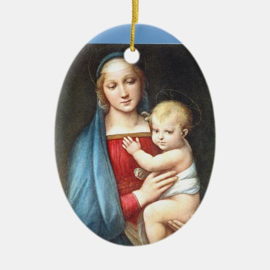 Madonna and Child, Italy Ceramic Ornament