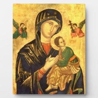 Madonna and Child Jesus Icon Photo Plaque