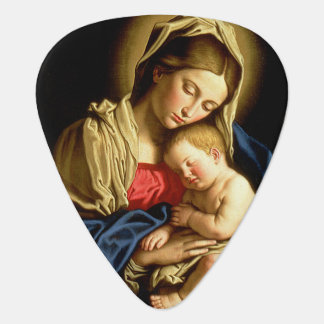 Madonna and Child Jesus - Sassoferrato Guitar Pick