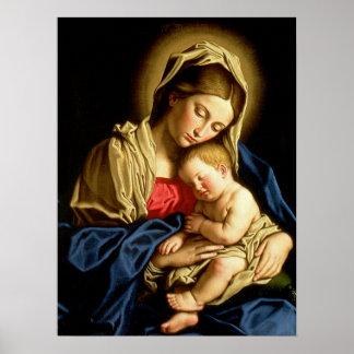 Madonna and Child Jesus - Sassoferrato Poster