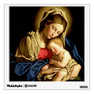 Madonna and Child Jesus - Sassoferrato Wall Sticker