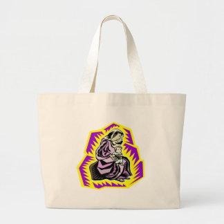 Madonna And Child Jumbo Tote Bag