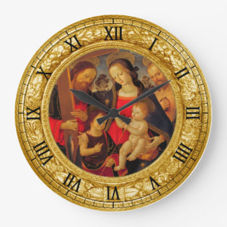 Madonna and Child Large Clock