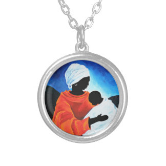 Madonna and child - Lullabye 2008 Silver Plated Necklace