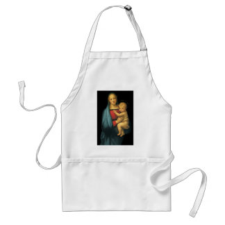 Madonna And Child, Madonna del Granduca by Raphael Adult Apron