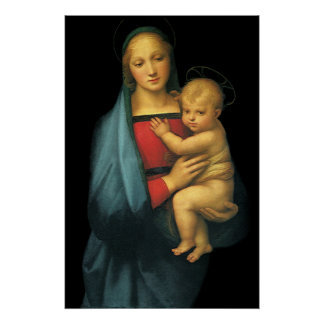 Madonna And Child, Madonna del Granduca by Raphael Poster
