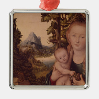 Madonna and Child Metal Ornament