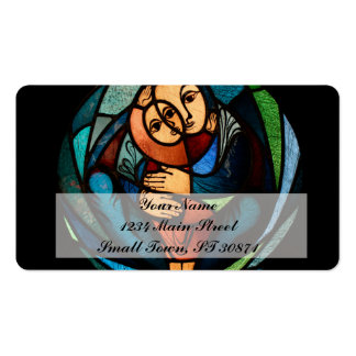 MADONNA AND CHILD multicolored simbol Business Card