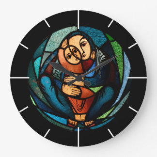 MADONNA AND CHILD multicolored simbol Wall Clock