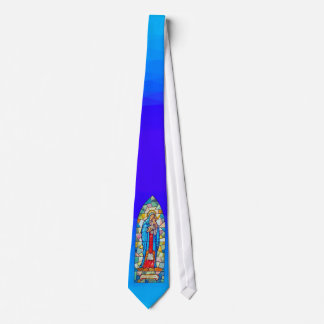 Madonna and Child Nativity Stained Glass Style Neck Tie
