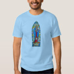 Madonna and Child Nativity Stained Glass Style T-shirts