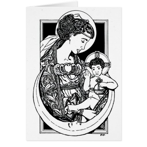 Madonna and Child Notecard Stationery Note Card