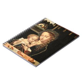 Madonna and Child Nursing Spiral Note Books