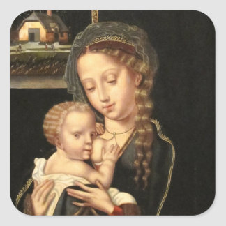 Madonna and Child Nursing Square Sticker