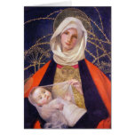 madonna and Child of the Thorns Greeting Cards