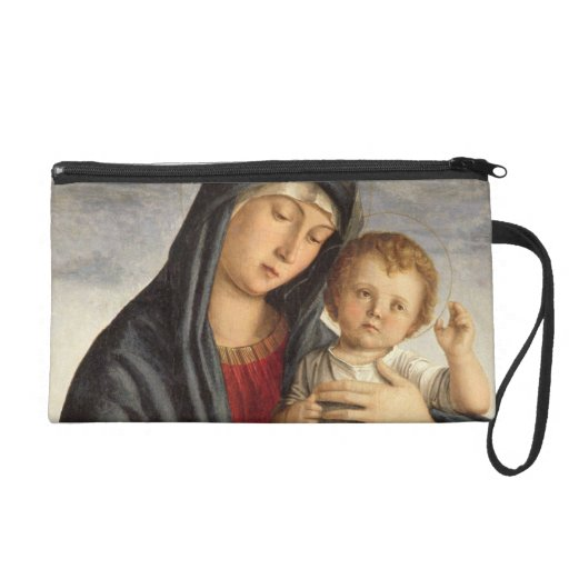 Madonna and Child (oil on panel) 2 Wristlet Clutches