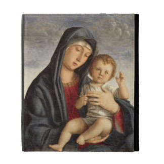 Madonna and Child (oil on panel) 2 iPad Case