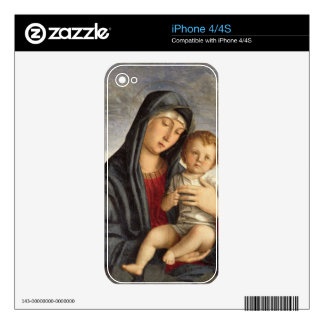 Madonna and Child (oil on panel) 2 iPhone 4S Decal