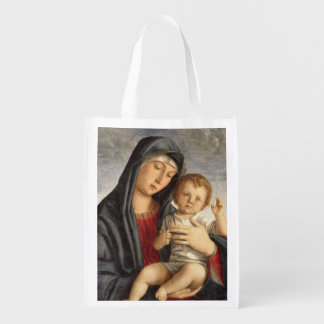 Madonna and Child (oil on panel) 2 Grocery Bags