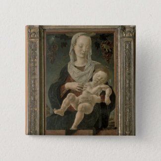 Madonna and Child (oil on panel) Button