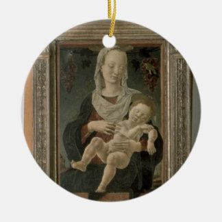 Madonna and Child (oil on panel) Ceramic Ornament