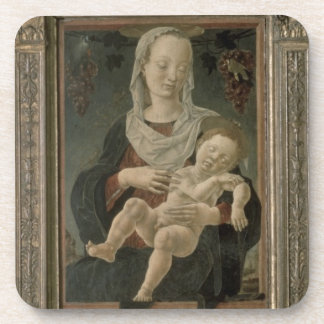 Madonna and Child (oil on panel) Drink Coaster
