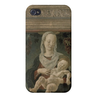 Madonna and Child (oil on panel) iPhone 4 Cover