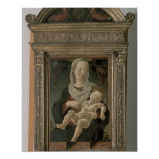 Madonna and Child (oil on panel) Poster