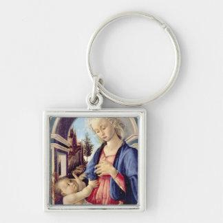 Madonna and Child (panel) 2 Keychain