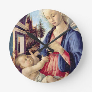 Madonna and Child (panel) 2 Round Clock