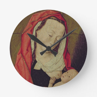 Madonna and Child (panel) Round Clock