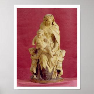 Madonna and Child (papier mache) Poster