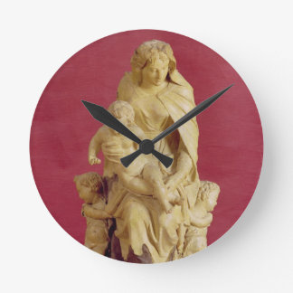 Madonna and Child (papier mache) Round Clock