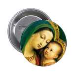 MADONNA AND CHILD PINBACK BUTTONS