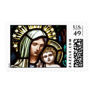 Madonna and Child Postage Stamp