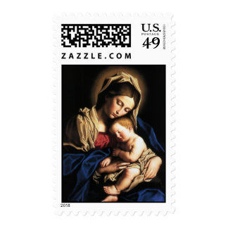 Madonna and child postage