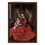 Madonna And Child Reading By Eyck Jan Van (Best Qu Greeting Card