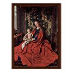 Madonna And Child Reading By Eyck Jan Van (Best Qu Postcard