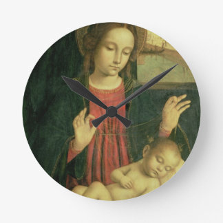 Madonna and Child Round Clock