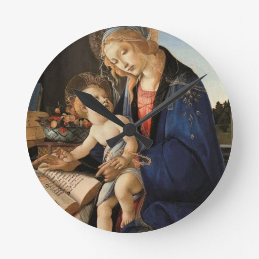 Madonna and Child Round Clocks