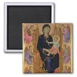 Madonna and Child (Rucellai Madonna) 1285 (tempera 2 Inch Square Magnet