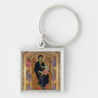 Madonna and Child (Rucellai Madonna) 1285 (tempera Keychain