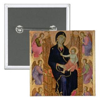Madonna and Child (Rucellai Madonna) 1285 (tempera Pinback Button