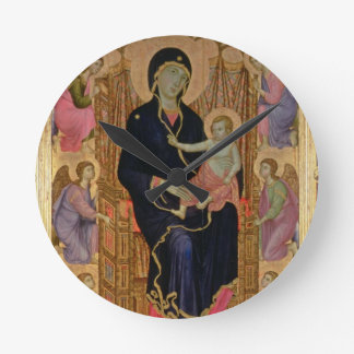 Madonna and Child (Rucellai Madonna) 1285 (tempera Round Clock