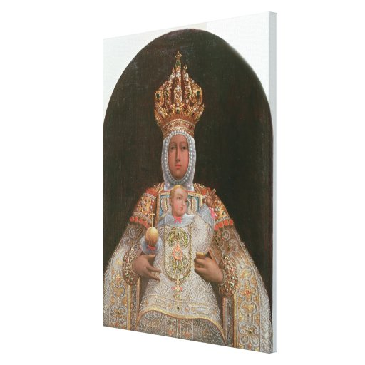 Madonna and Child, School of Cusco Canvas Print
