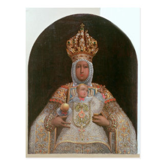 Madonna and Child, School of Cusco Postcard